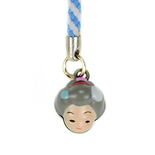 CUTE GRANDMOTHER SHAPED BRASS BELL CHARM Mobile Cell Phone Lanyard Strap Grandma (Grandmother Bell)