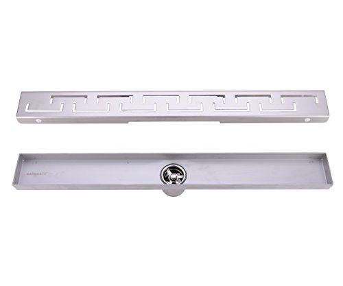 HANEBATH Linear Shower Floor Drain with Removable Grate, 23.6-inch