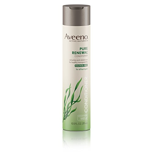 Aveeno Pure Renewal  Hair Conditioner, Moisturizing Conditioner with Seaweed Extract, Sulfate-Free Formula, 10.5 fl. oz