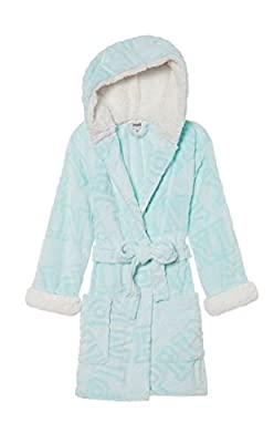Victoria Secret. Pink Cozy Hooded Short Seafoam Glow Sherpa Lined Robe XS/S