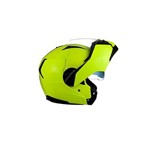 Stofftragetasche /· Gelb /· XL SOXON SF-99 Neon Yellow /· Sturz-Helm Modular-Helm Roller-Helm Klapp-Helm Integral-Helm Helmet Flip-Up-Helm Scooter-Helm Cruiser Motorrad-Helm /· ECE zertifiziert /· zwei Visiere /· inkl
