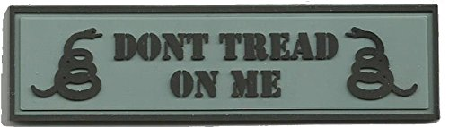 PVC Tactical Morale Patch - Dont Tread On Me - ACU/Silver