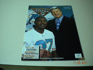MIAMI DOLPHINS INSIDER MAGAZINE,JIMMY JOHNSON MAY-JUNE 1997