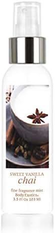 Sweet Vanilla Chai Perfume Fine Fragrance Mist by Body Exotics 3.5 Fl Oz 103 Ml Perfect Fall Blend of Shaved Coconut, Vanilla Bean, Golden Milk, White Chocolate Tea, Maple, Warm Spices & Vanilla Rum