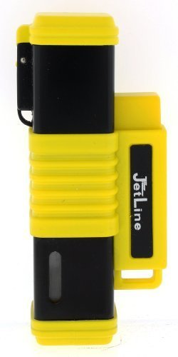 (JetLine New York Quad Torch Flame Lighter (Black Yellow) by JetLine Lighters)