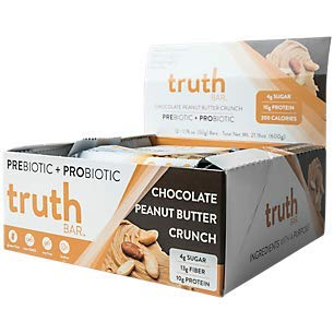 truth BAR Prebiotic + Probiotic Bar Chocolate Peanut Butter Crunch (12 Bars)