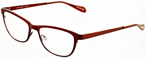 Oliver Peoples Optical Eyeglasses Alden 1109T in Burgundy (5073) ; DEMO ()