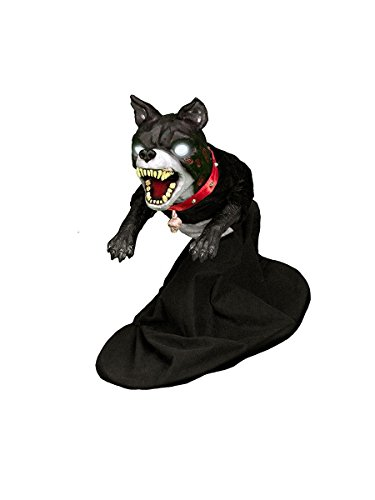 Jumping Halloween Props (Halloween Animated Evil Jumping Dog Sound Motion Activated)