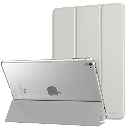 MoKo Case Fit iPad Pro 9.7 - Slim Lightweight Smart Shell Stand Cover with Translucent Frosted Back Protector Fit Apple iPad Pro 9.7 Inch 2016 Release Tablet ONLY, Silver (with Auto Wake/Sleep)