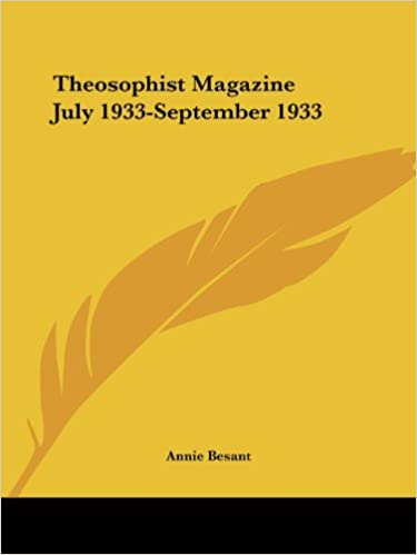 Theosophist Magazine (July 1933-September 1933)