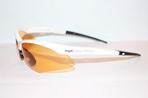 (Shark Shades - The only Glasses Designed to Help You find Sharks Teeth on The Beach! White)