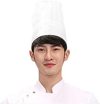 Yjzq Calot Cuisinier Jetable Homme Femme 20 Pcs Chapeau De Cuisine