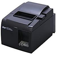 Star Micronics 39463530 Model TSP143UGT BLK US Thermal Printer, Friction, Cutter, USB, With Cable and European Power Supply, Piano Black