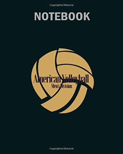Notebook: american volleyball - 50 sheets, 100 pages - 8 x 10 inches por volleyball Notebook