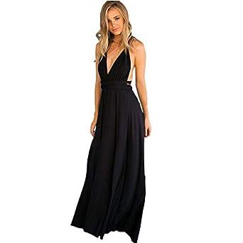 6a9eff391f5a HEHEM Evening Dress Sexy Women Sleeveless Halter Bandage Party Evening Dress  Elegant Maxi Dresses: Amazon.co.uk: Clothing