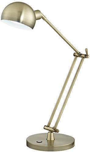 - OttLite Refine LED Antique Brass Desk Lamp