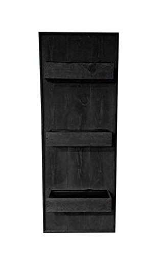 Shop Living Walls SLW-WM60-RBL Wall Plant Holder, Reclaimed Black by Shop Living Walls