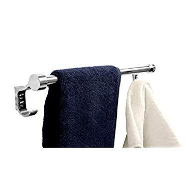 FORTUNE 18 INCH Stainless Steel Bathroom Hook Towel Rod Holder | Wall Mounted Hand Towel Rail for Kitchen and Washroom 12