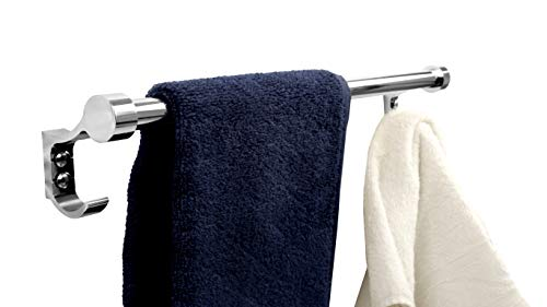 FORTUNE 18 INCH Stainless Steel Bathroom Hook Towel Rod Holder | Wall Mounted Hand Towel Rail for Kitchen and Washroom 5