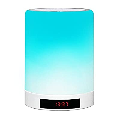 LED Bluetooth Speaker Light, Dream Plus, Wireless Speaker with LED Dimmable Light and Color Changing, Alarm Clock, LED Time Display, Hand-Free Calls, Support TF Card Playing, Tripod - All in One by Dream Plus