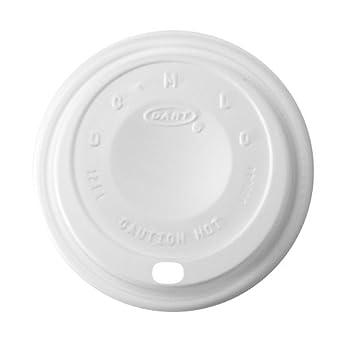 Dart 12EL Cappuccino Dome Sipper Lids, 12 oz, White