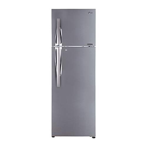 LG 360 L 2 Star Inverter Linear Frost-Free Double-Door Refrigerator (GL-T402LPZU, Shiny Steel, Convertible)