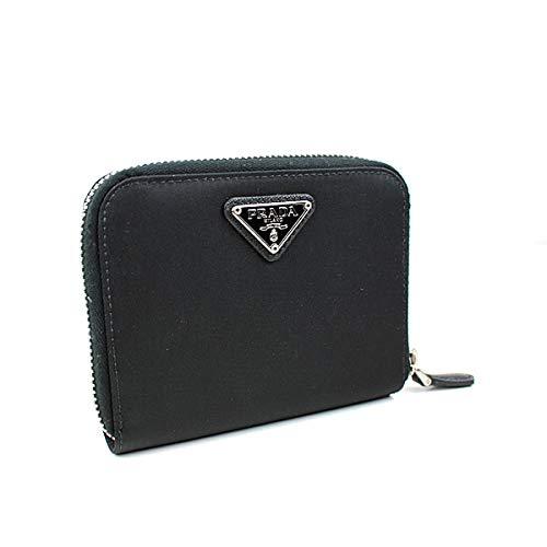 (プラダ) PRADA 二つ折り財布 ラウンドジップ 黒 ナイロン テスート j247 [中古]   B07QS6DSXV