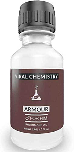 Pheromones to Attract Women for Men (Armour) Cologne Oil - Bold, Extra Strength Human Pheromones Formula by ViralChemistry - 15ml Concentrate (Human Grade Pheromones to Attract Women)
