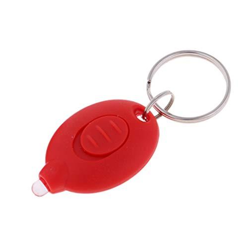 - NATFUR Outdoor Travel Mini LED Flashlight Key Chain Thin LED Flashlight on Keychain Pretty Novelty Key-Chain for Men Holder Elegant Pretty Beautiful | Color - red