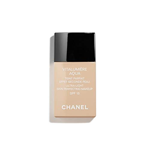 CHANEL. VITALUMIÈRE AQUA FLUID ULTRA-LIGHT SKIN PERFECTING MAKEUP SPF 15 30ml. # 12 - BEIGE (Allure Chanel Type)