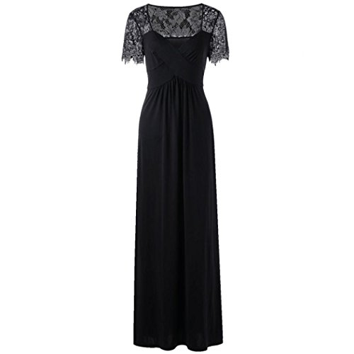 Plus Size Lace Dress, Xinantime Ladies Long Sleeve Prom Gown Evening Party Dress (Black, 4XL): Amazon.co.uk: Car & Motorbike