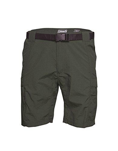 Coleman Mens Hiking Cargo Shorts (Large, Eucalyptus)