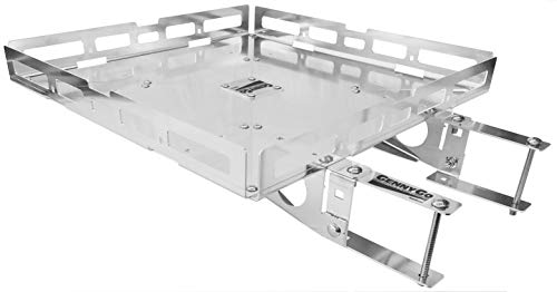 Mount-n-Lock GennyGo RV 4in Bumper-Mounted Generator & Cargo Carrier Tray Kit (TM) (24″ x 24″, Aluminum)