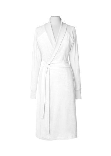 Nine Space Luxurious Organic Cotton Velour Bathrobe, Larg...