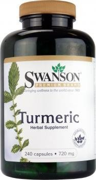 Swanson Premium Brand Turmeric Whole Root Powder 720 mg, 240 Capsules-2 ()