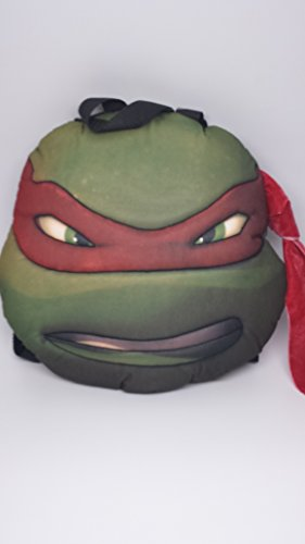 [TMNT Ninja Turtles Turtle Head Plush Doll Backpack Raphael Red Costumes Bag] (Plush Turtle Kids Costumes)