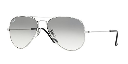 Ray-Ban RB3025 003/32 Aviator Silver Frame / Light Gray Gradient Lenses (Frame Light Grey Lenses)
