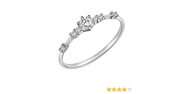 fbaedf254249f Women Fashion Eternity Thin Rings Plating Wedding Jewellery Ring Under 5  Dollars Valentine's Day Gifts for Girlfriend Boyfriend (US Size)