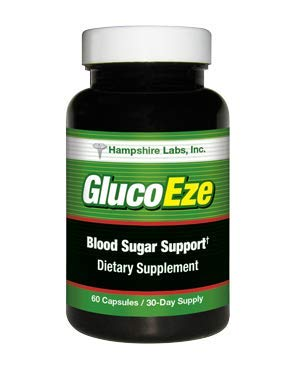 GlucoEze All-Natural Dietary Supplement Supports Healthy Blood Sugar Levels. Addresses Insulin Resistance, Promotes More Energy, Vibrant Health Vigor. 30 Day Supply.