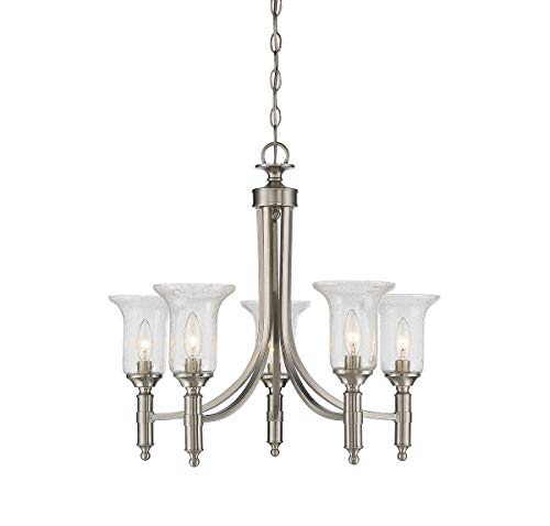 Collection 1 Light Chandelier - Savoy House 1-7130-5-SN Trudy 5-Light Chandelier in Satin Nickel
