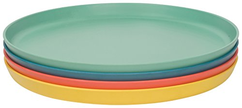 Now Designs Ecologie Dinner Plates, Set of Four, Fiesta Colors -
