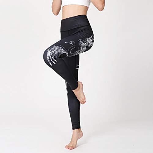 ヨガウェア ヨガパンツ女性の印刷弾性痩身フィットネスタイトパンツハイウエスト速乾性ランニングパンツおなかコントロールパワーストレッチヨガレギンス