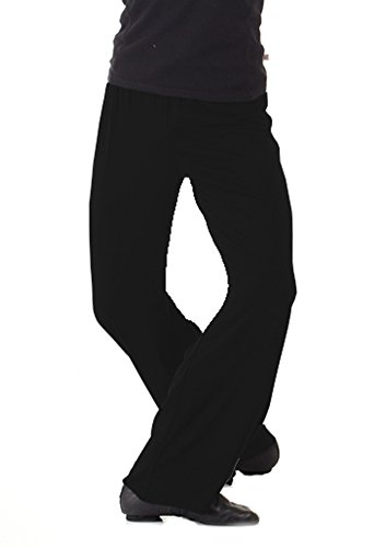 Boys Jazz Pants For Dance Large Black by B Dancewear Child and Kid Sizes - Mens Jazz Pants