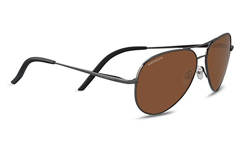 Soleil Polarized Lunettes Carrara Shiny smAll Serengeti Drivers Small GunMetal Carrara de qw1xxzAIB