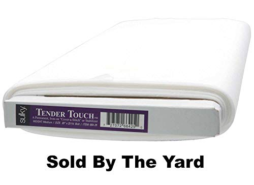 """Sulky Tender Touch Iron-On Stabilizer White 20"""" By The Yard"""