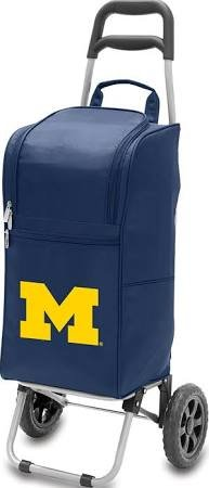 NCAA Michigan Wolverines Insulated Cart Cooler with Wheeled Trolley, Navy