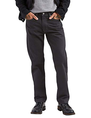 - Levi's Men's 505 Regular Fit Jean, Black, 44x32