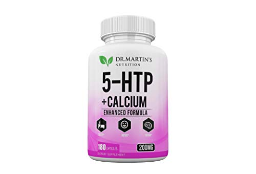 5-HTP | 425 mg Supplement – 180 Capsules for Mood Enhancement | Natural Sleep Aid | Weight Loss | Headache and Migraine Treatment| by DR. Martin'S Nutrition