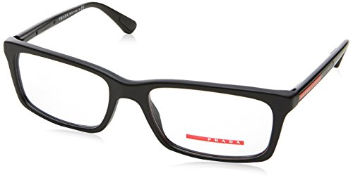Prada Linea Rossa Men's PS 02CV Eyeglasses Matte Black 55mm