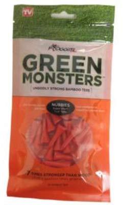 Frogger Golf Green Monsters Ultra-Strong Bamboo Golf Tees, 1-1/8